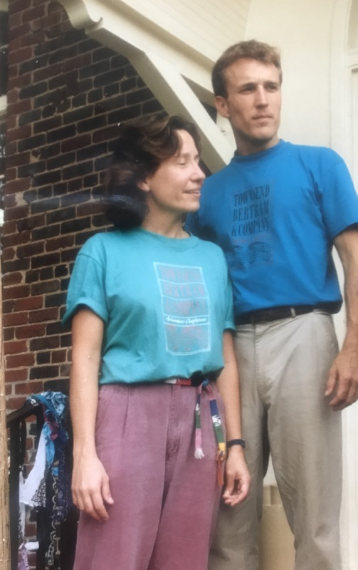 Audrey Townsend and Scott Bertram on opening day in 1988 sporting the original logo tees!