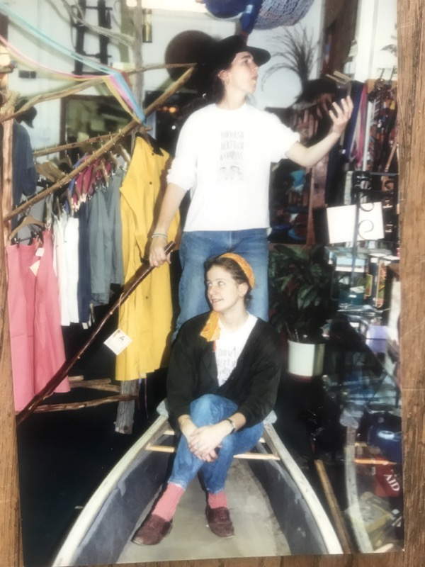 Two of our first staff who we keep up with today. We love you Ann and Betsy T! Original Scott Bertram rack pictured to the left made out of cedar gathered from Scott and Audrey's property out in the country.