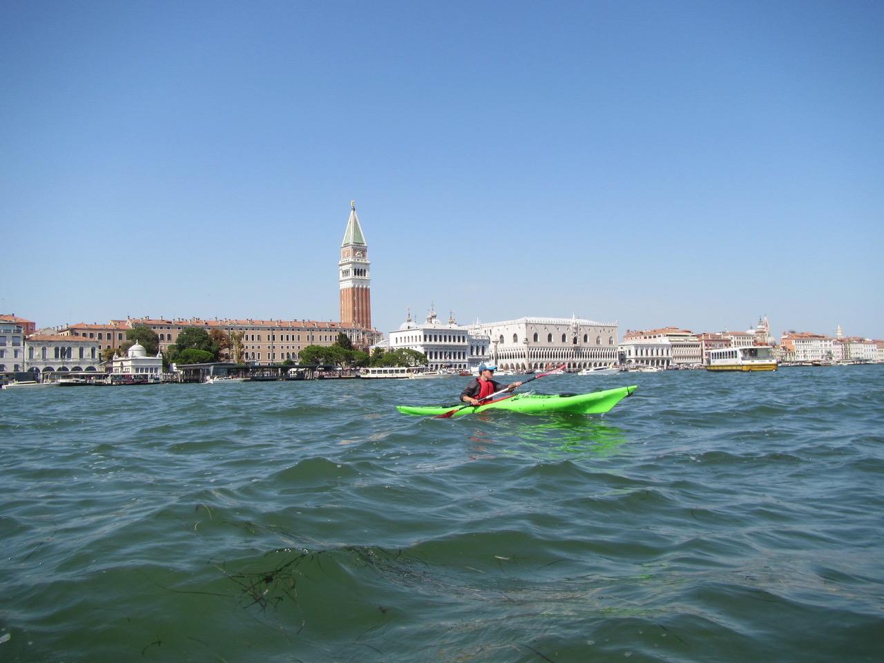 Sea kayaking in Venice, Italy.