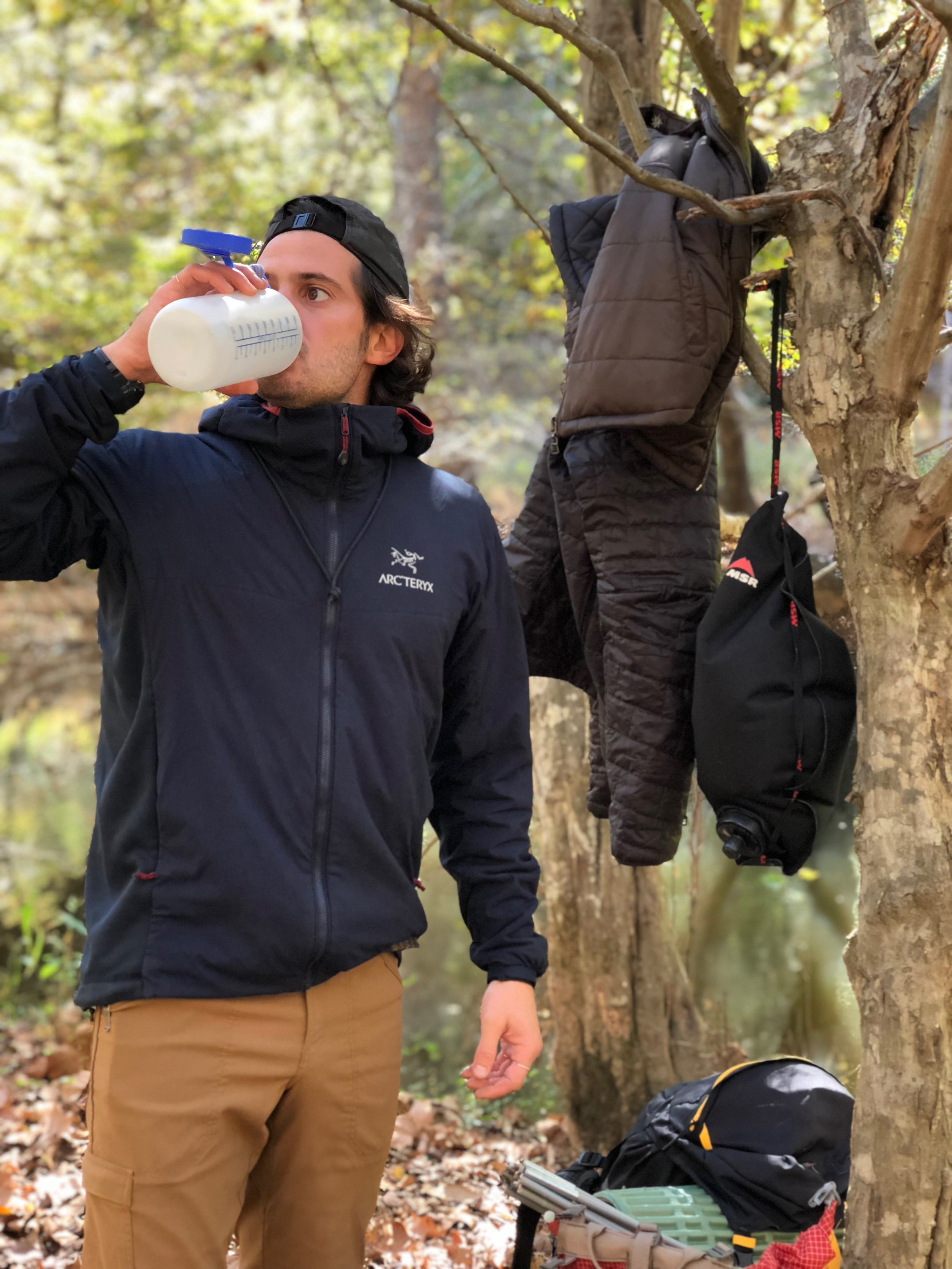 The Arc'teryx Atom LT jacket is a favorite among staff and customers.