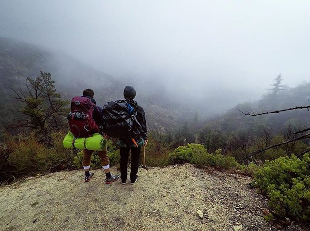 Taking in the view. Osprey packs are great for weekend getaways to pack all your gear for optimal comfort on the trail.