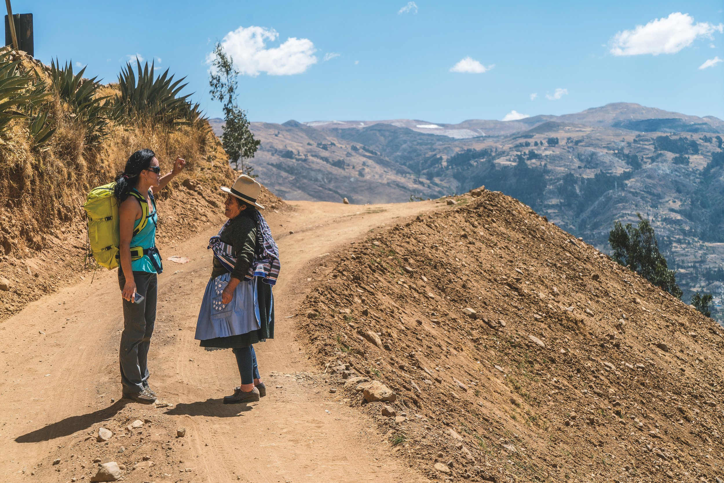 """""""Shanjean Lee checks in at the local tourist office. Huaraz, Peru."""" Photo credit to Mikey Schaefer."""