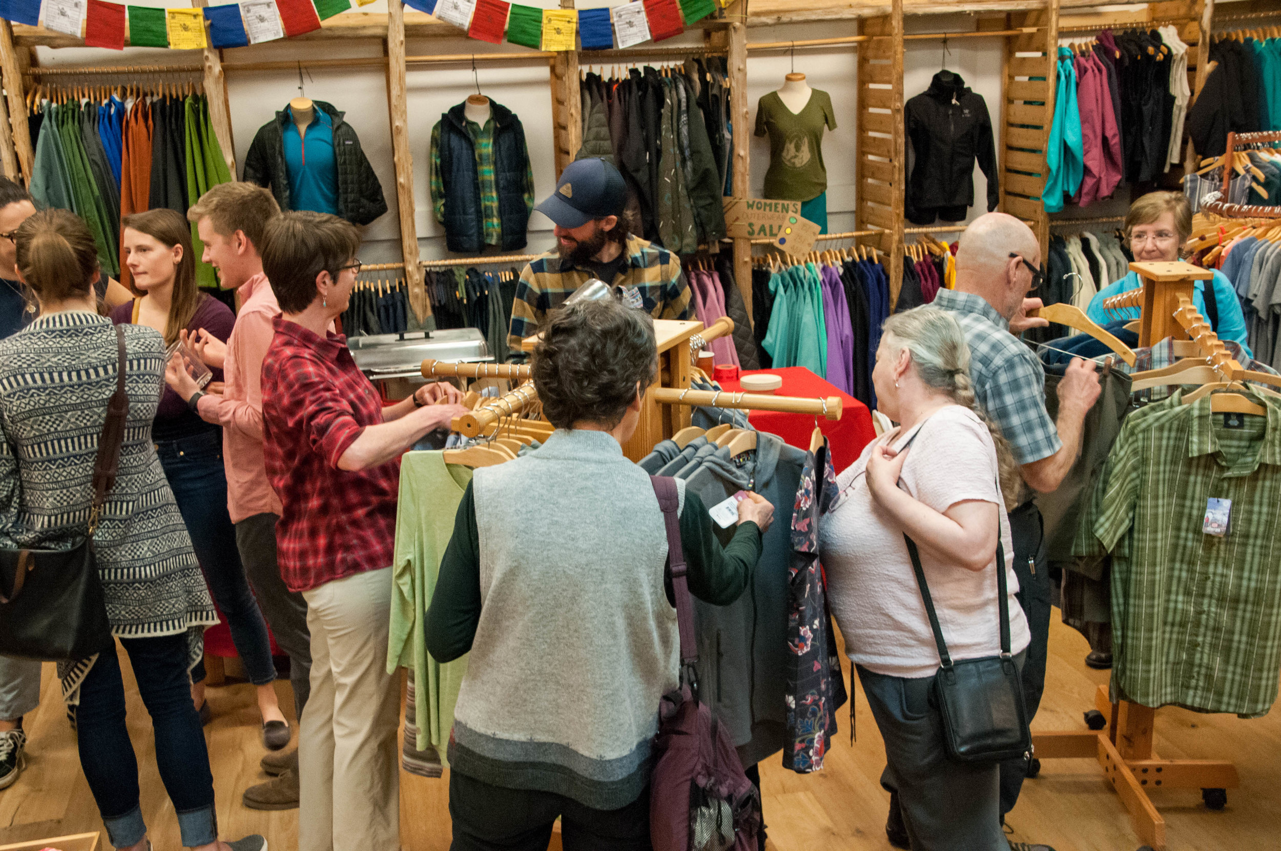Friends, family and community members experiencing Sherpa Adventure Gear for the first time.