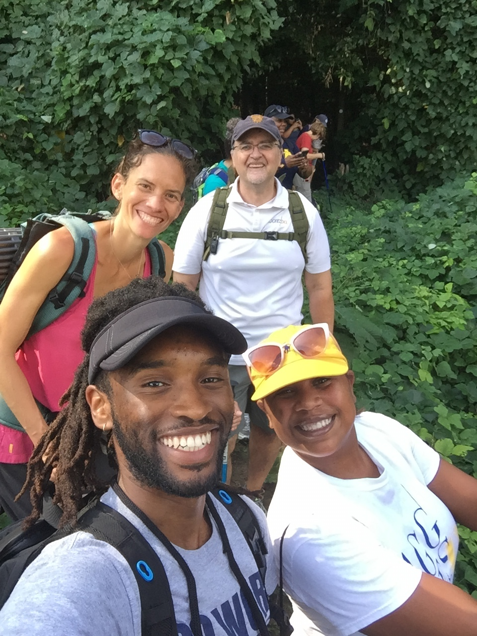 Joining National Geographic Explorer, Jennifer Pharr-Davis, to hike the Mountains-to-Sea Trail portion near Lake Brandt, Greensboro, NC