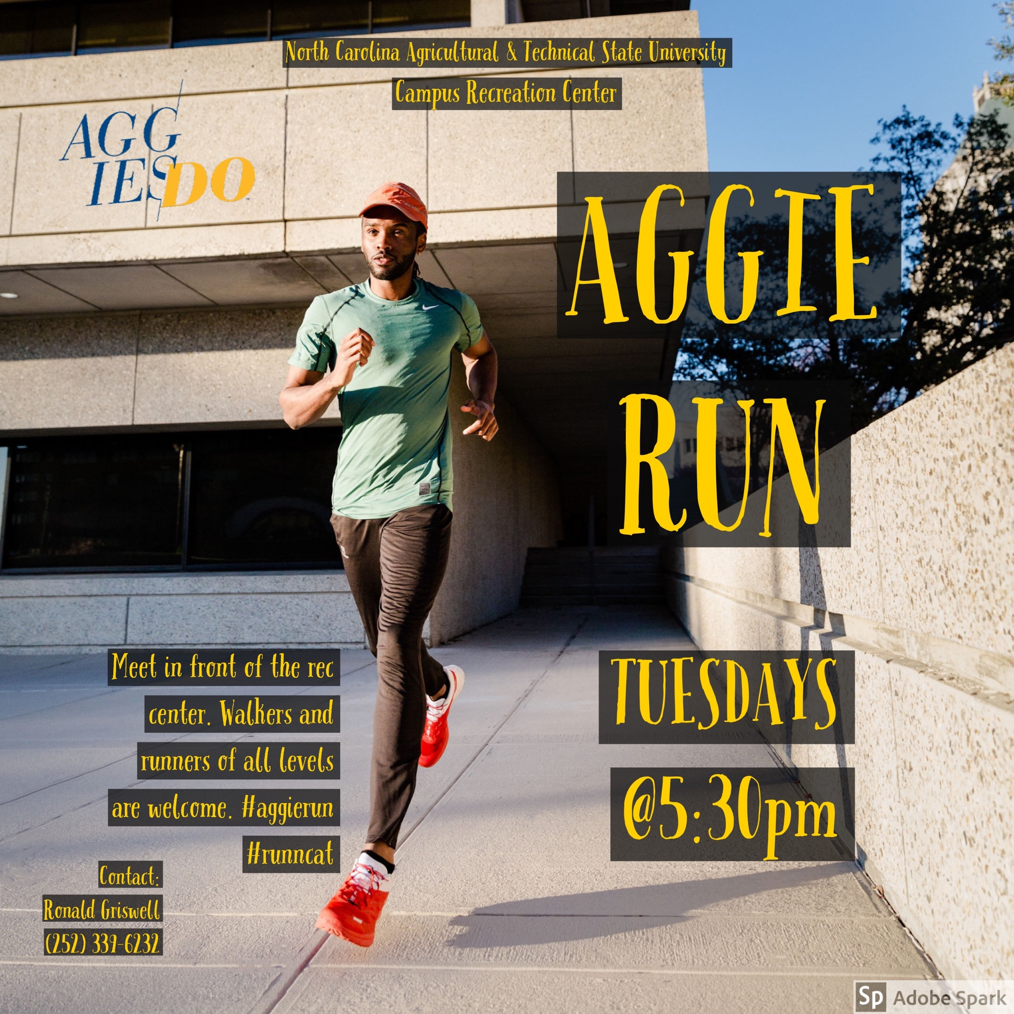 Flyer for Weekly Running Group