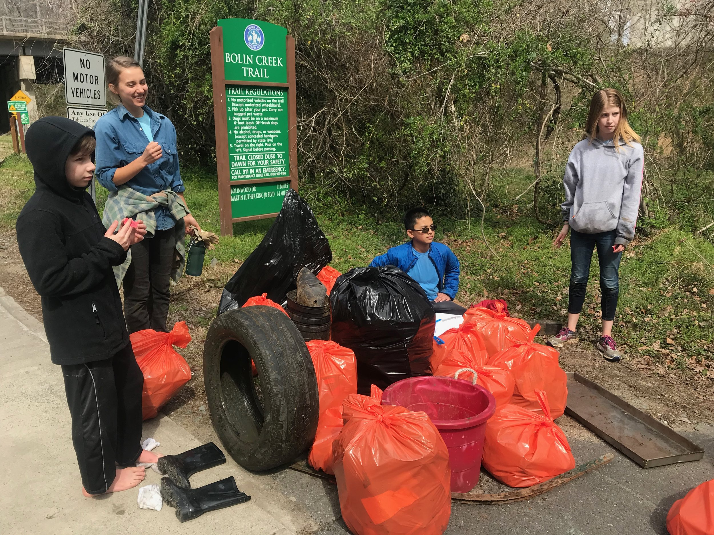TB&C community members at the Haw River Clean Up!