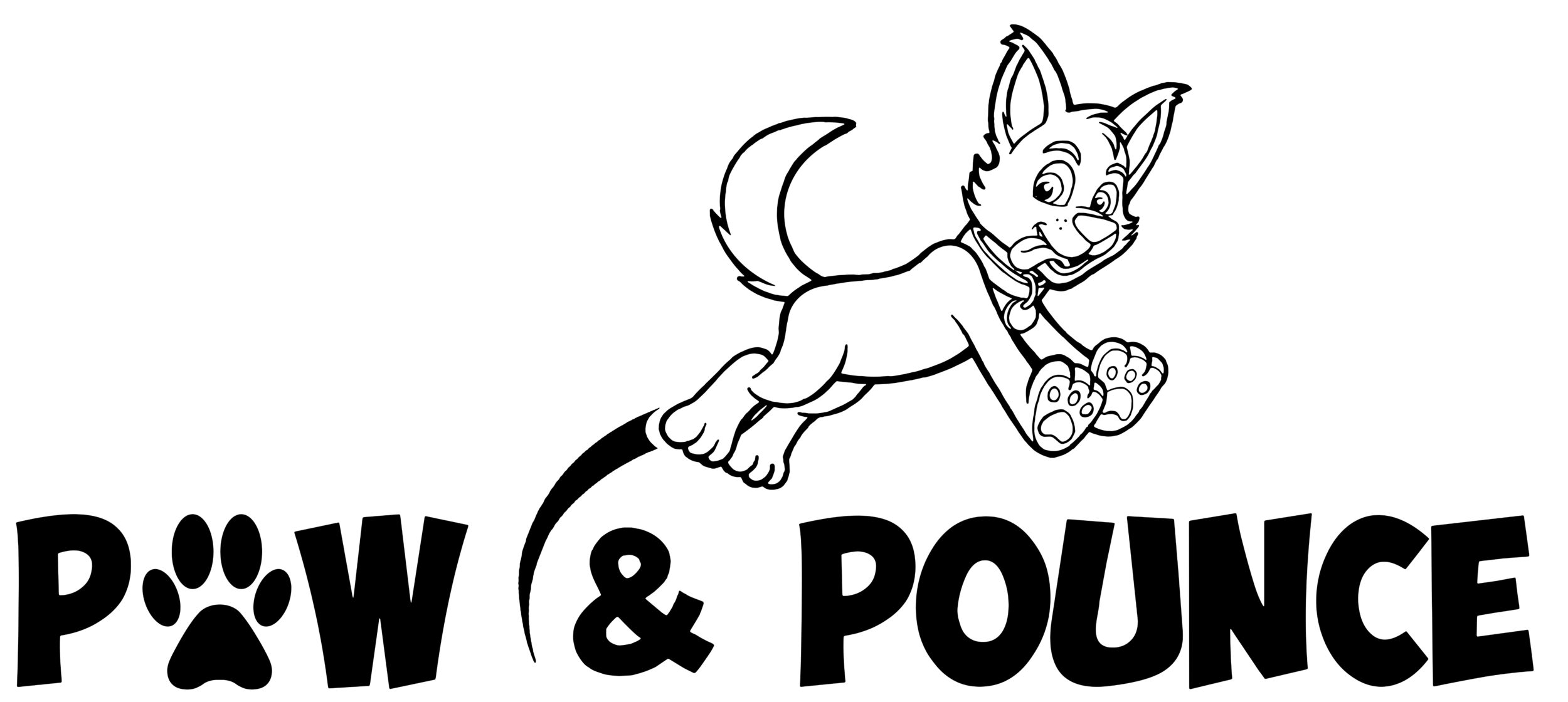 Our new paw & pounce weekend logo by pup Jarrad