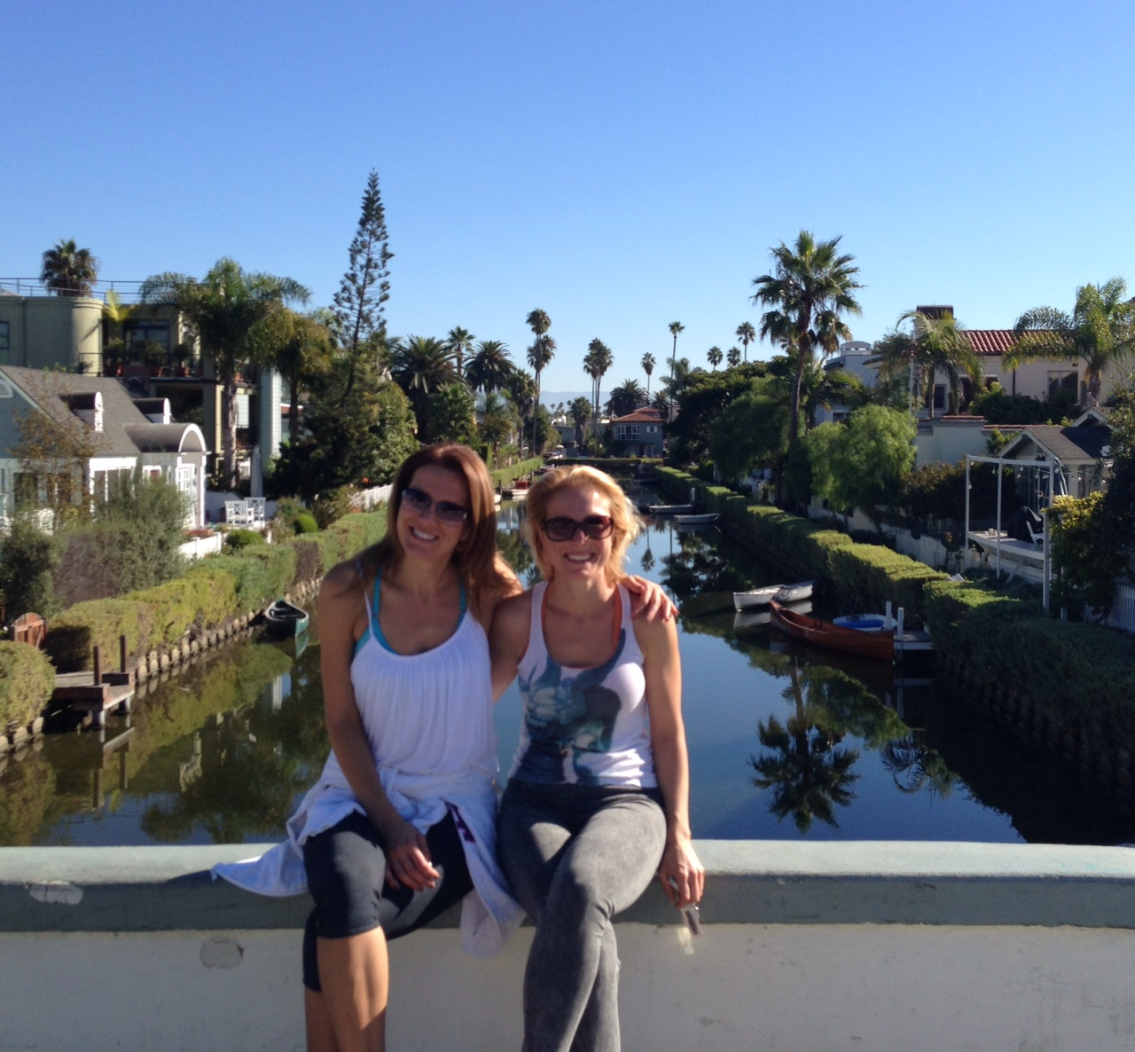AdaPia and Joanna on a stunning September morning on the Venice Canals