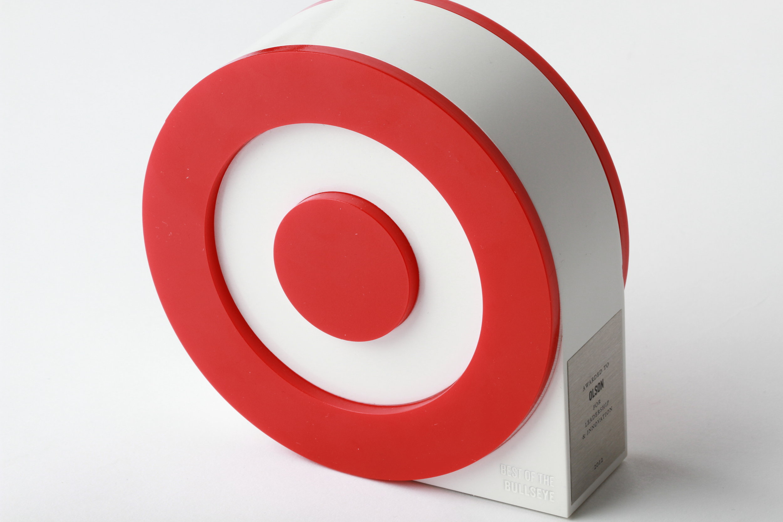 """All that great work won Olson a """"Best of the Bullseye"""" award for leadership and innovation."""