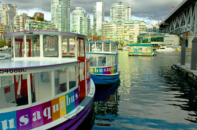 board the aquabus and enjoy the waterfront
