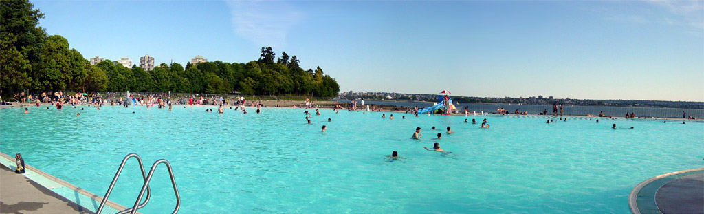 soak up some rays while the kids get soaked at second beach pool