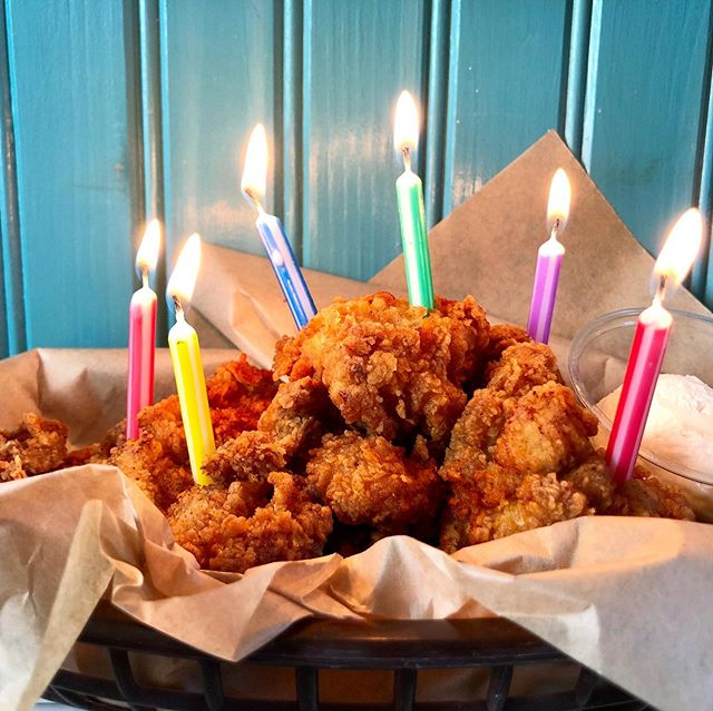 🎉 HAPPY 6th BIRTHDAY HBFC 🎉Join us for the celebration! $6 fried chicken strips + $6 candied jalapeño margaritas! (Birthday special available in-house only.) Thank to everyone for your continued support and enthusiasm for our food, service, and restaurant!