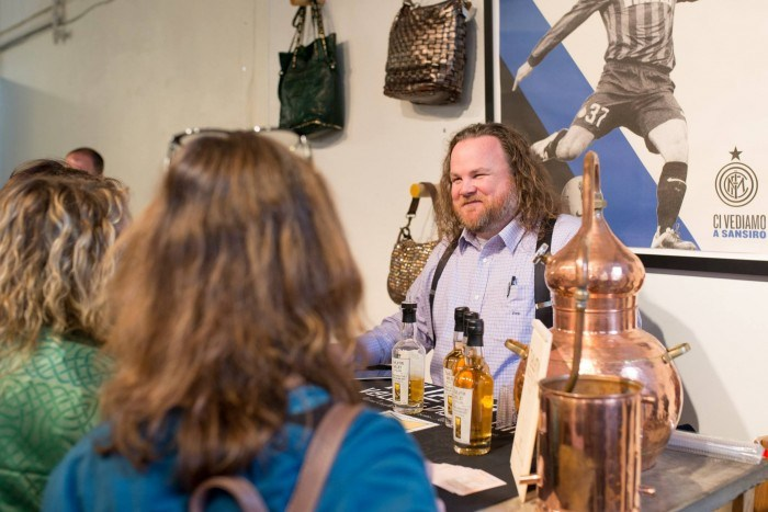 Jason TVD Tasting Jason O'Donnell, Owner of Tualatin Valley Distilling, pouring whiskey samples for guests. (Photo courtesy of Tualatin Valley Distilling)
