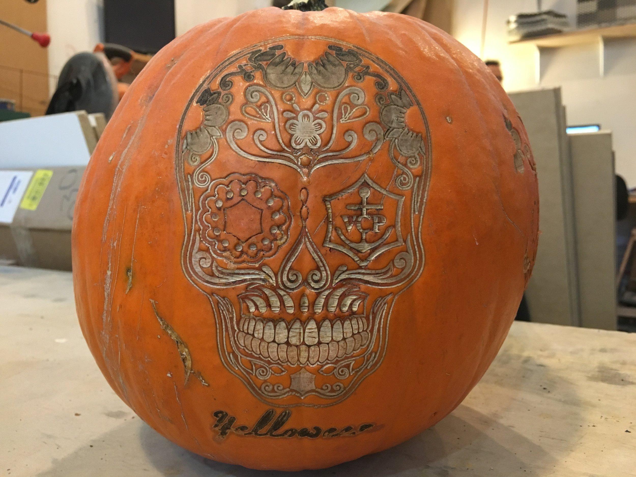 Raster Etched Pumpkin