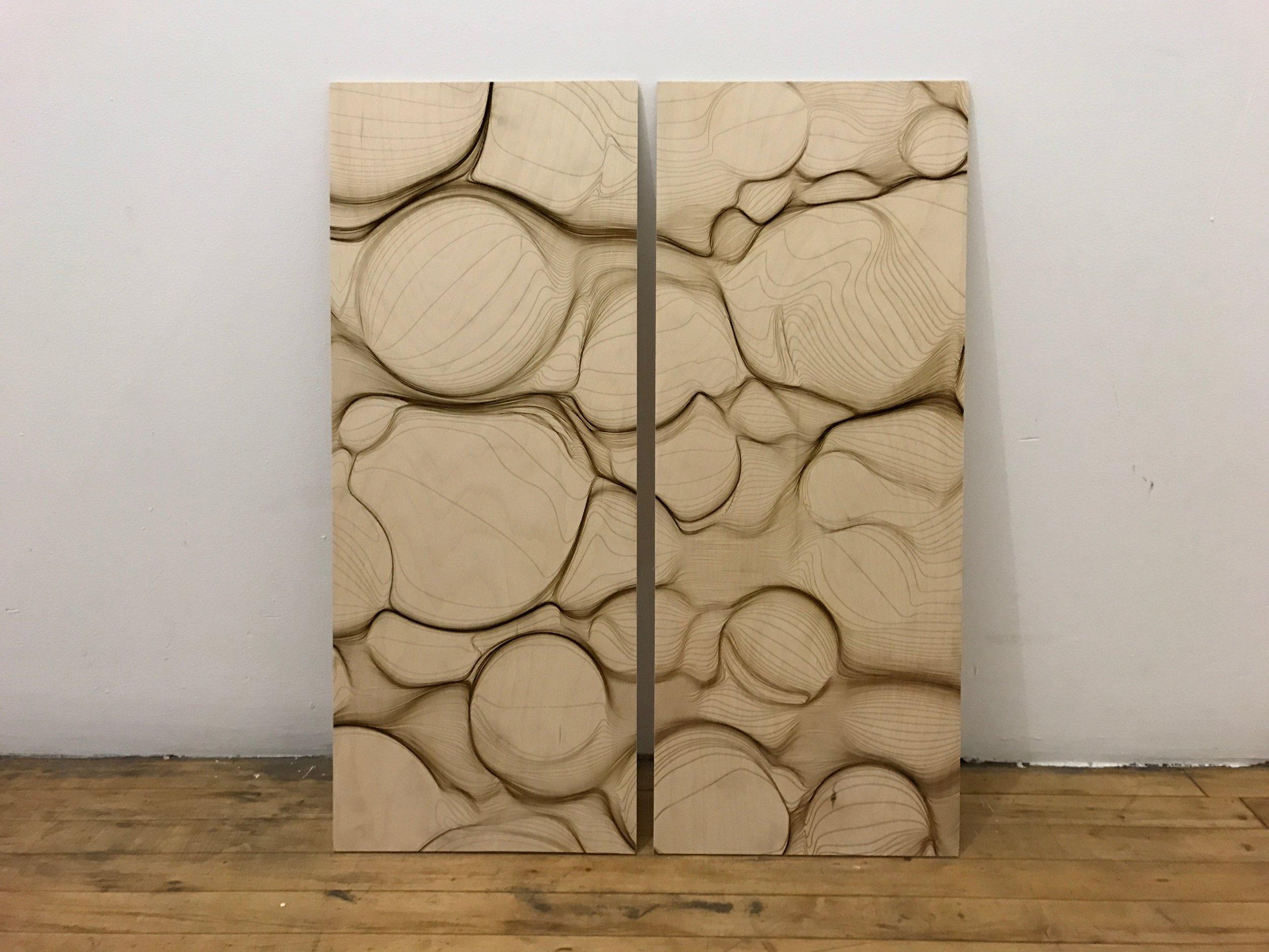 Etched Baltic Birch Plywood by Marius Watz