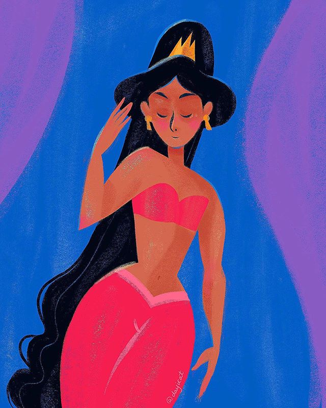 Quick Jasmine 💜🧞♂️ . . . . . . . . . #procreateart #maxpacks #disneyfanart #princessjasmine #ipadproart
