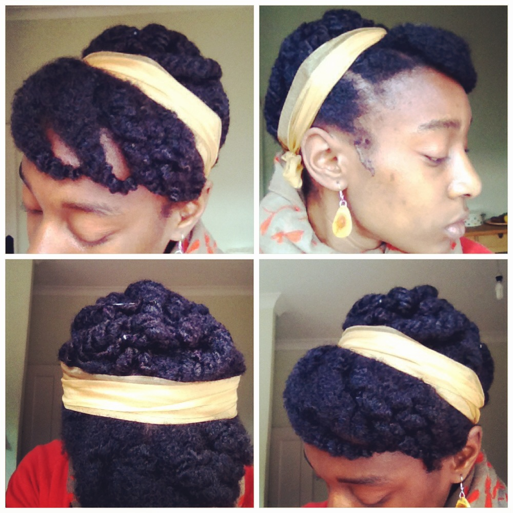 Simple chunky twist style which allows my hair to stay moisturised for longer.