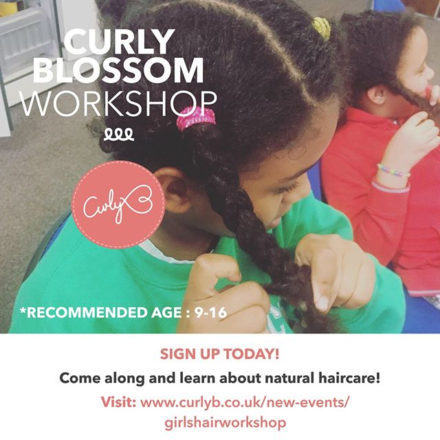 Only a few more days to go before the workshop! Why not invest in your daughter's hair education to help her grow in confidence and blossom! Sign up today! Visit: https://buff.ly/2SF0gFK