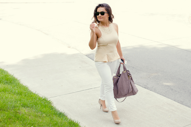 My friend Aysel with her peplum top