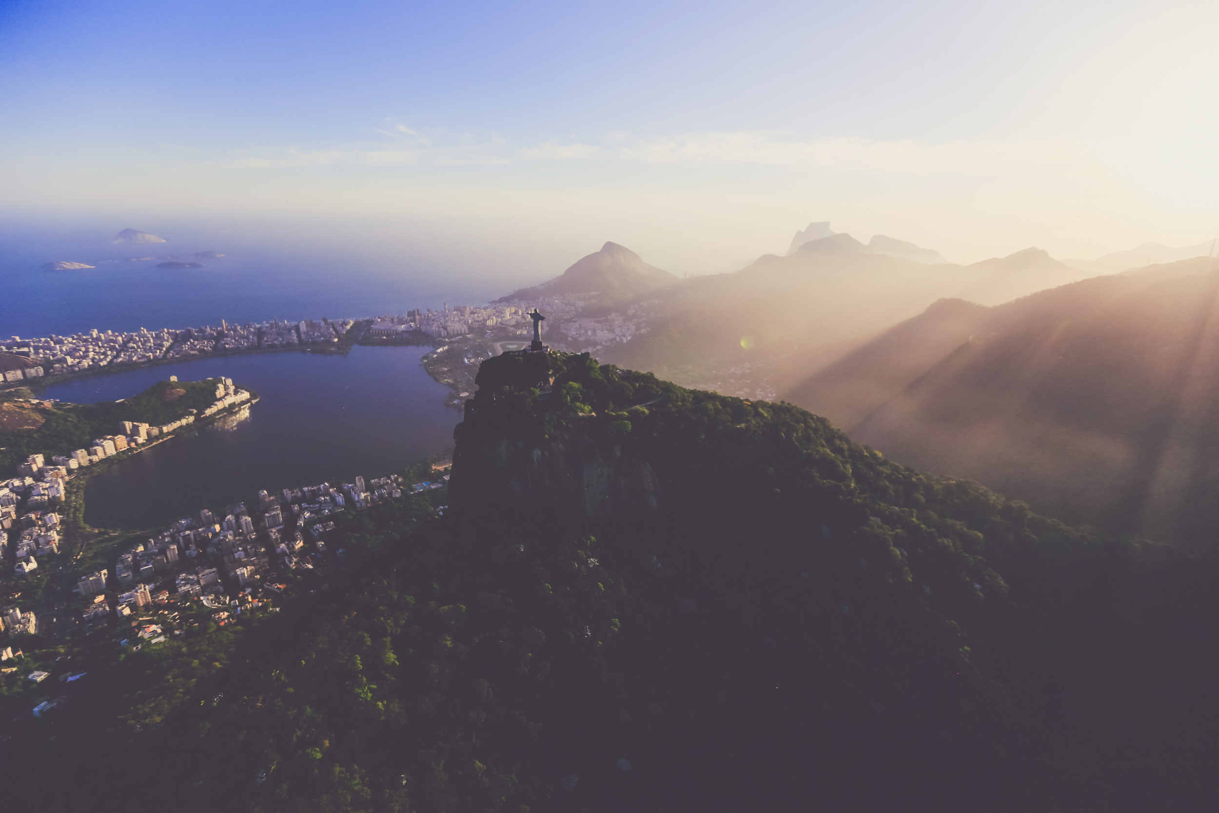 Christ the Redeemer looking over Rio - we took this picture while on our heli ride!