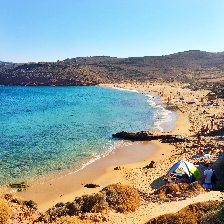 The wild Agios Sostis beach