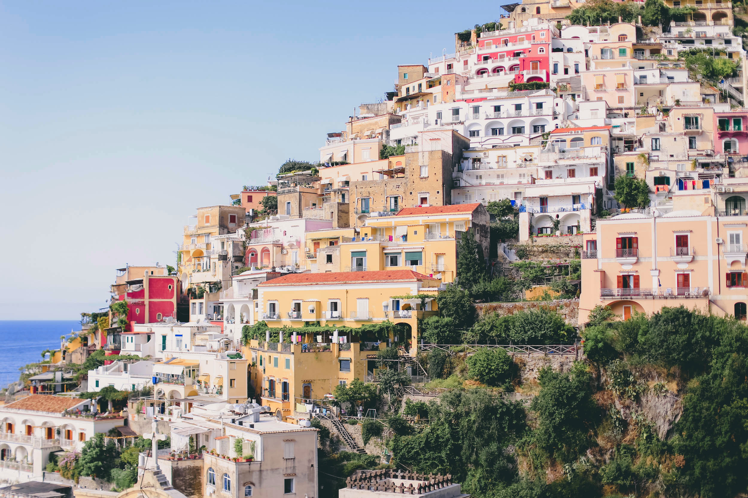 The beautiful colorful houses of Positano
