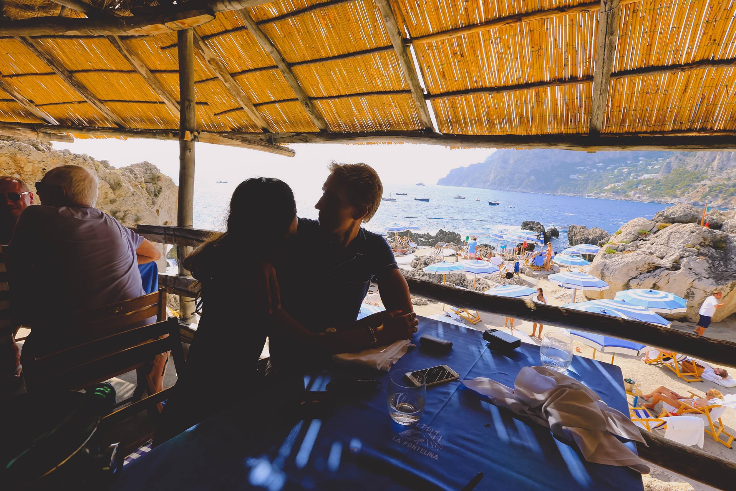 At our favourite restaurant in Capri - La Fontelina