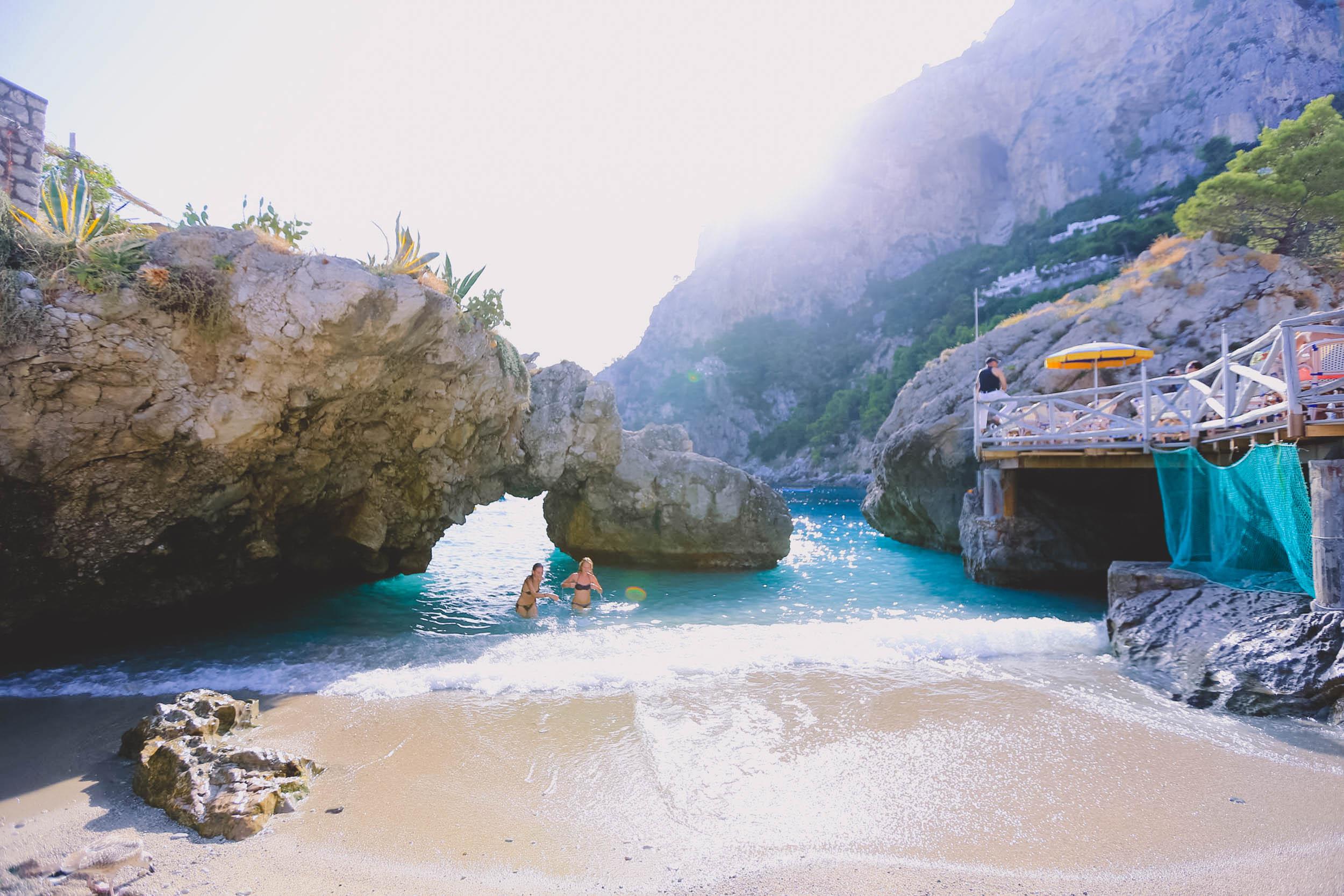 The small but gorgeous Marina Piccola beach