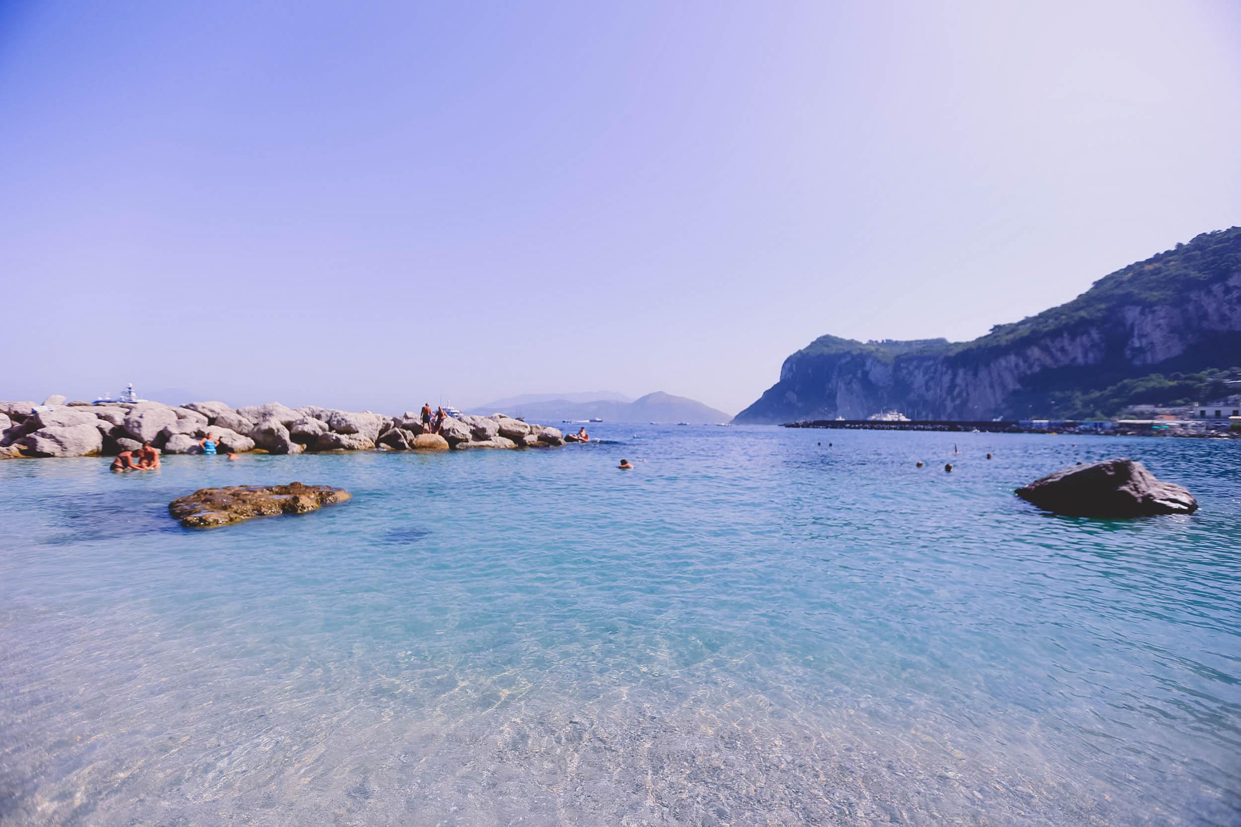 Marina Grande beach - the biggest beach in Capri