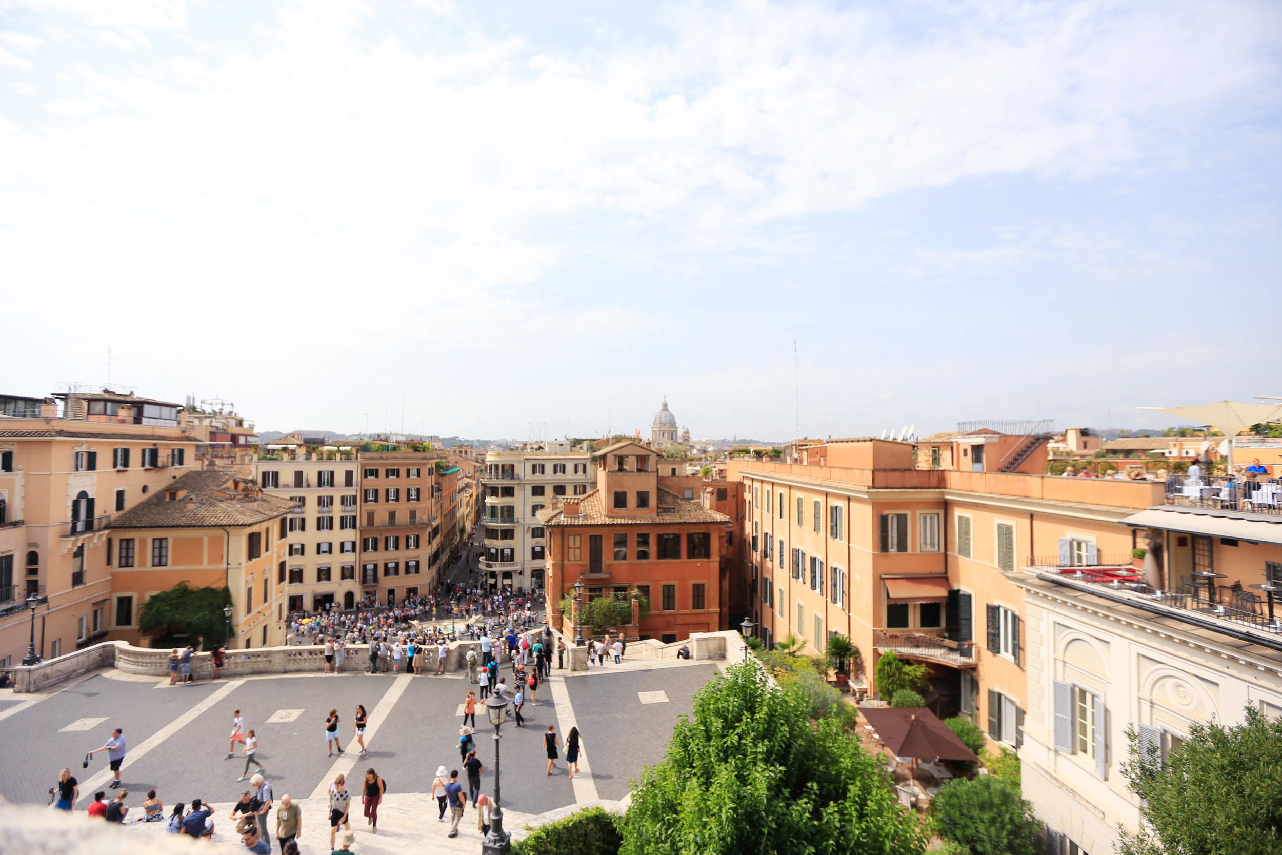 The view from above the Spanish Steps