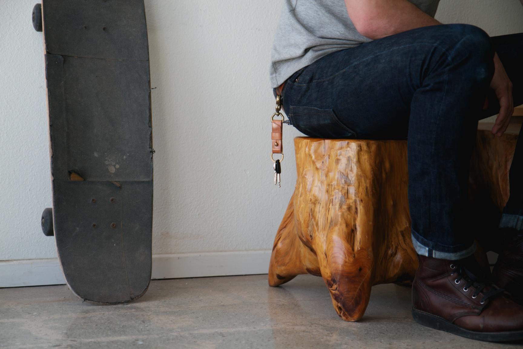Leather Keychain | Half Light Bindery