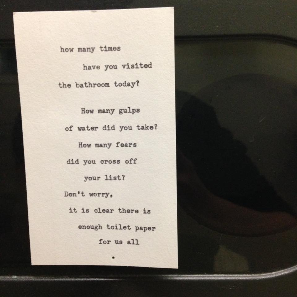 Toilet paper dispenser essence.  Photo: Heidi Parkes