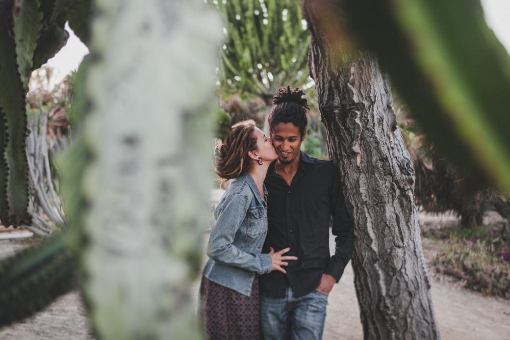 Alison and Didi, under an ancient cactus at Balboa Park, San Diego, California