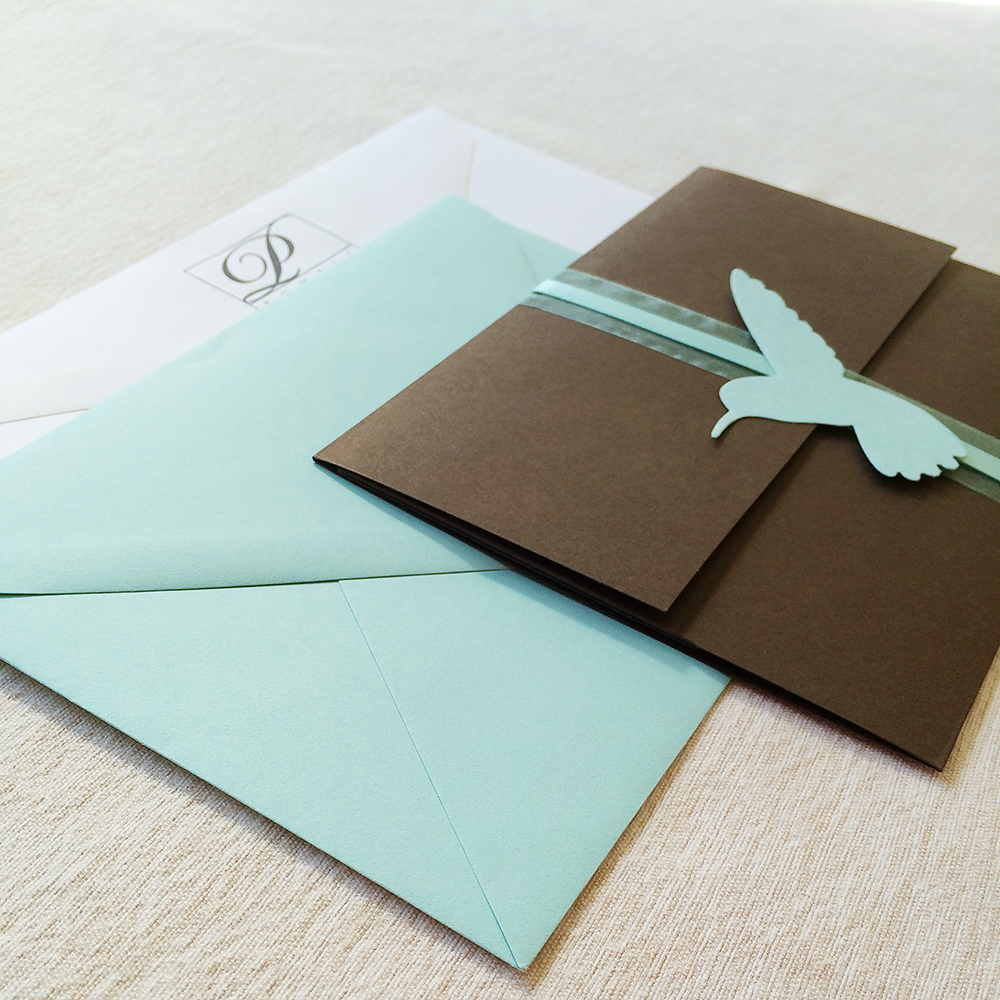 The invitation suite that started Songbird Paperie!