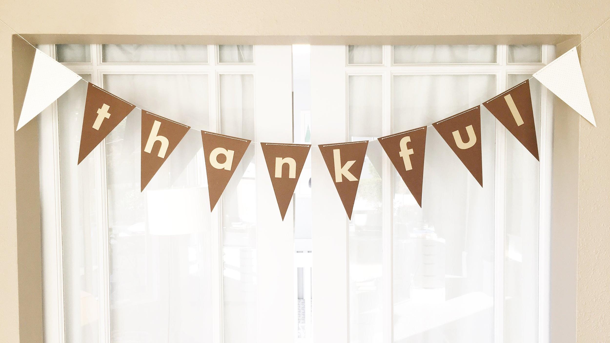 Thankful Thanksgiving Banner
