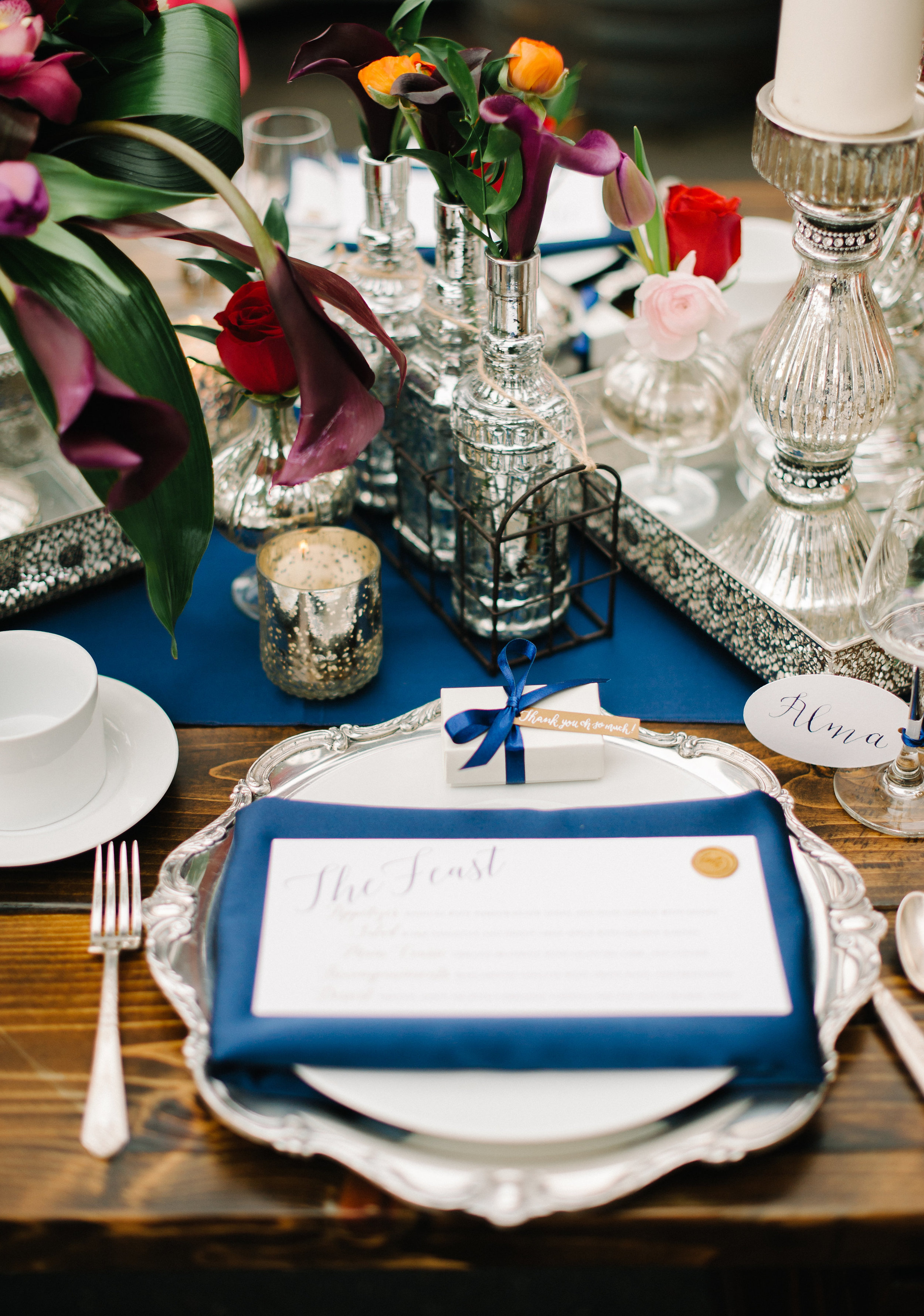 Jeweled Romance Wedding Place Setting