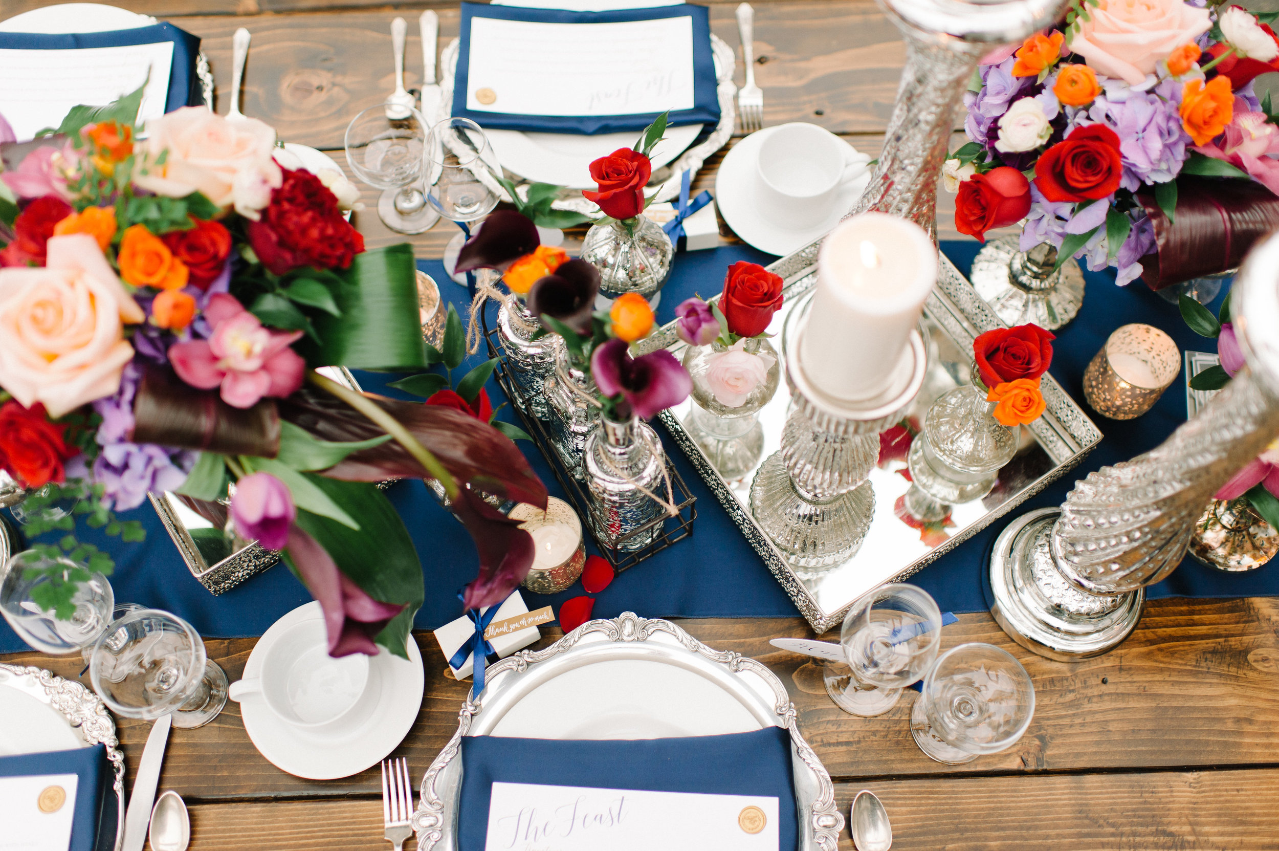 Jeweled Romance Wedding Table Setting