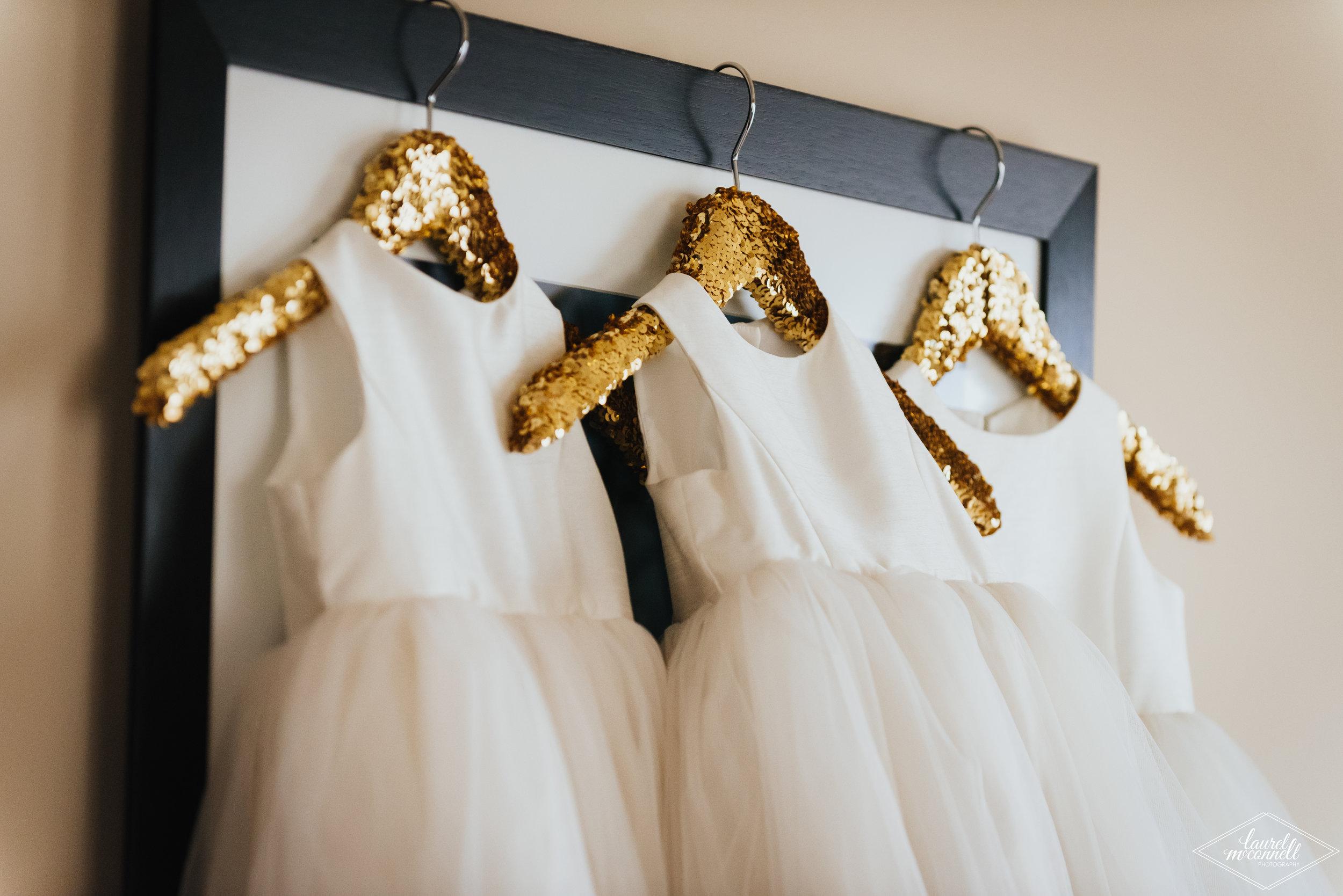 Gold Wedding Hangers