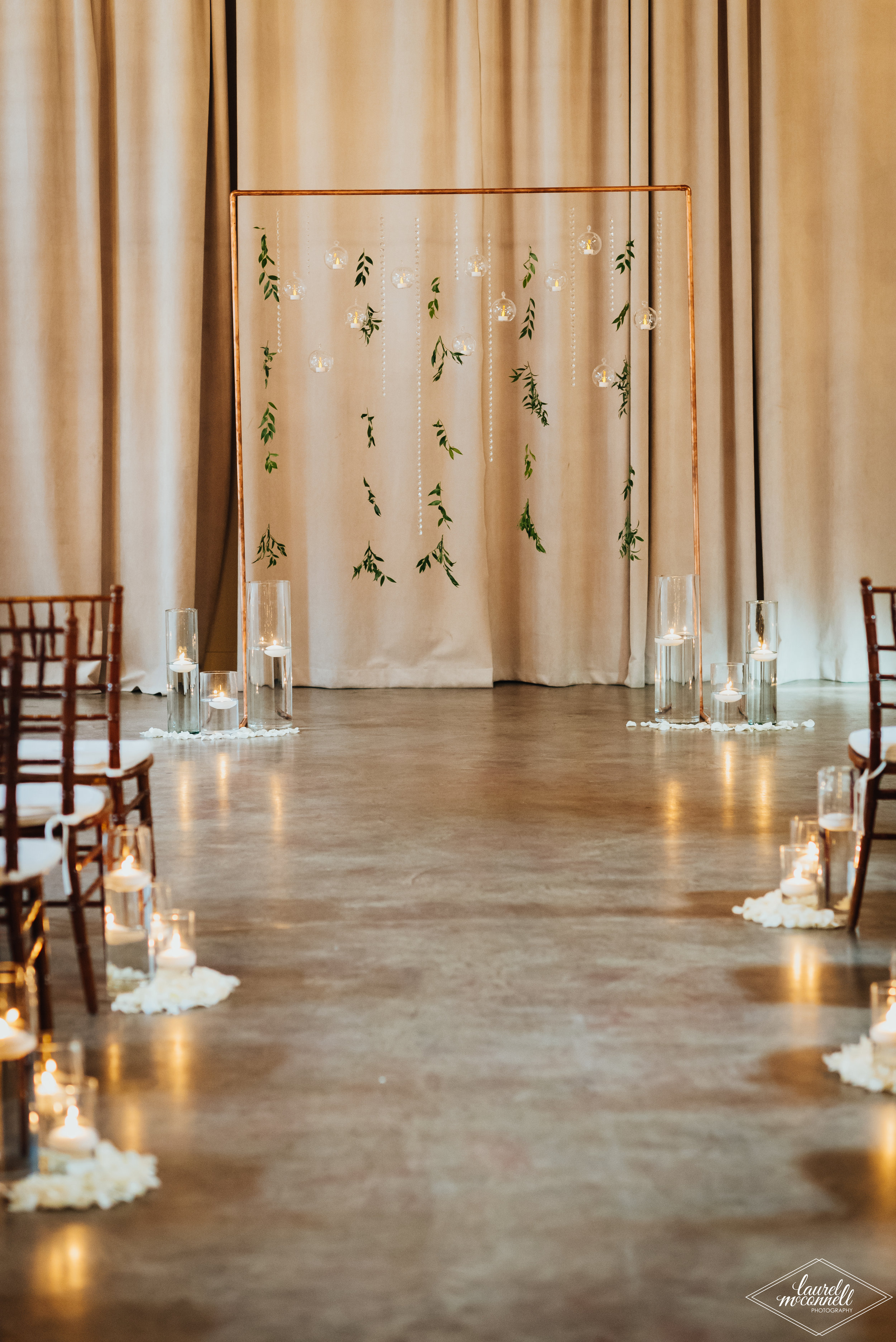 Pantone Wedding Ceremony Backdrop Inspo