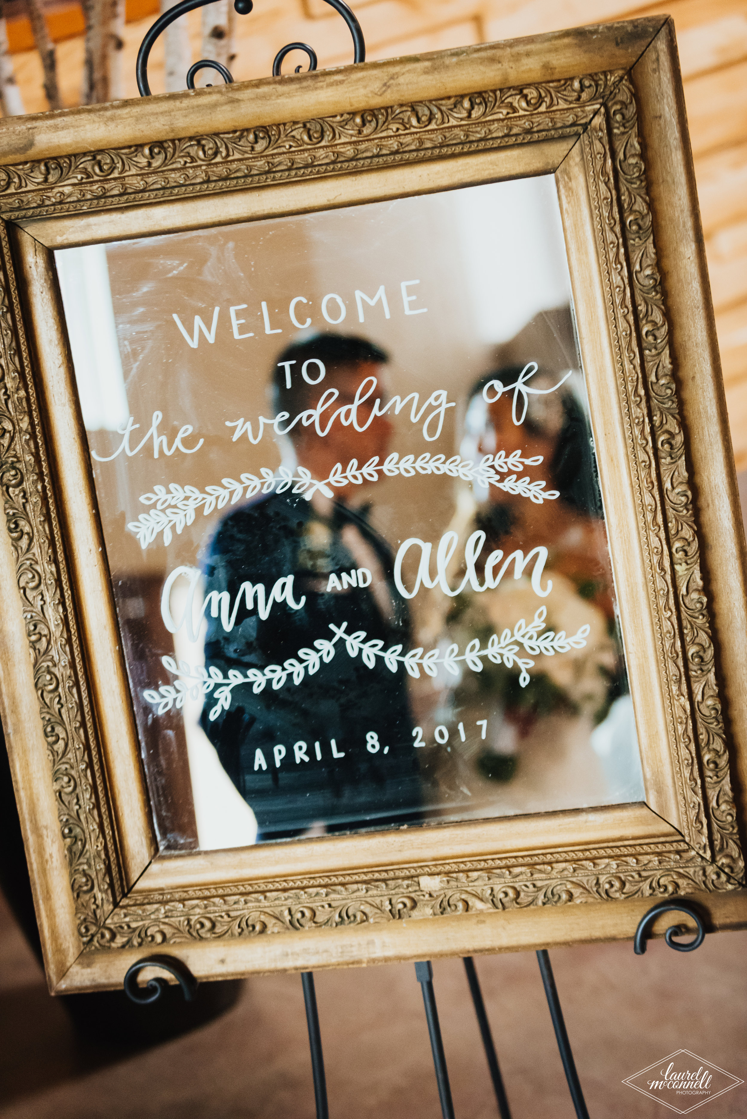 Wedding Welcome Sign Hand Lettering
