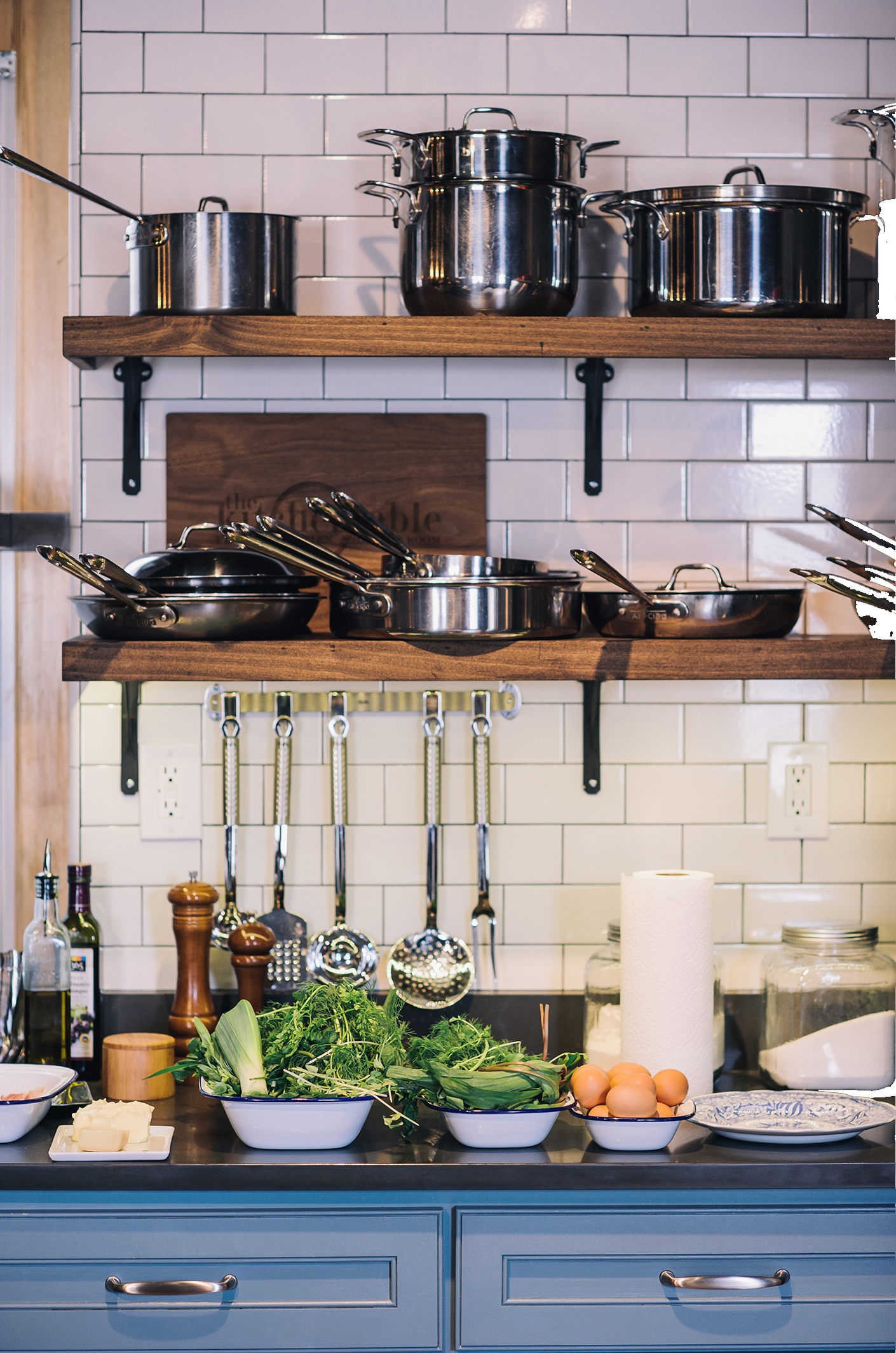 The Kitchen - Pull up a stool in our custom designed, fully equipped open chefs kitchen. Features include seating for 9, induction technology, and kitchen equipment by Le Creuset, All-Clad, Vitamix, Kitchenaid, Wüsthof and Nespresso.