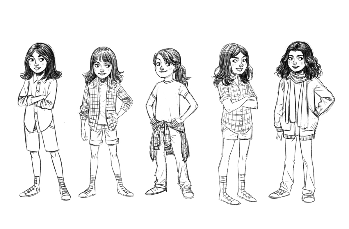 Character design for a children's book cover.