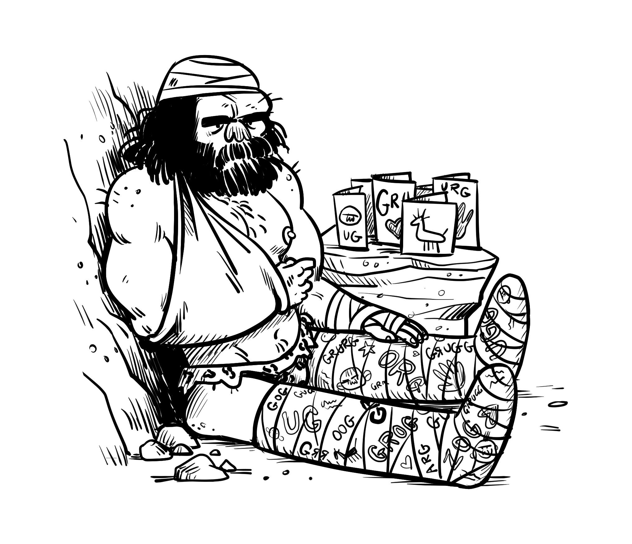 Injured Caveman