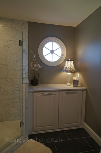 Bathroom design in Yardley, PA with plenty of storage space