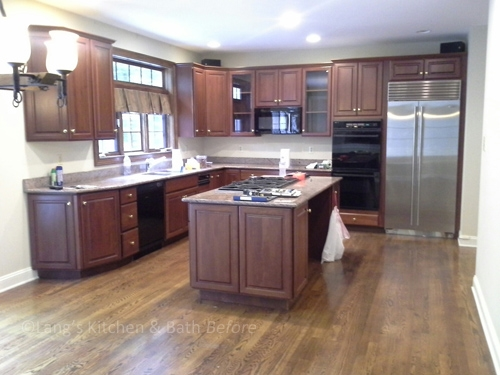 Before picture showing kitchen prior to renovation.