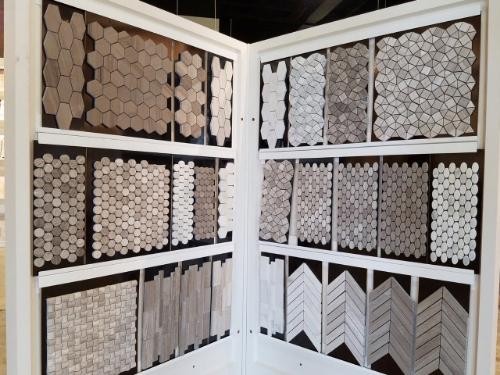 Gray tile designs from Emser.