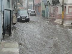water damage street