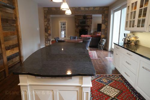Kitchen design with bucks county stone in doylestown pa.