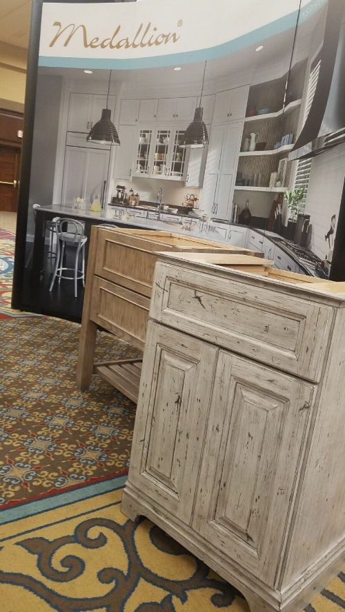 Medallion distressed vanity cabinets at SEN Fall 2017 Conference