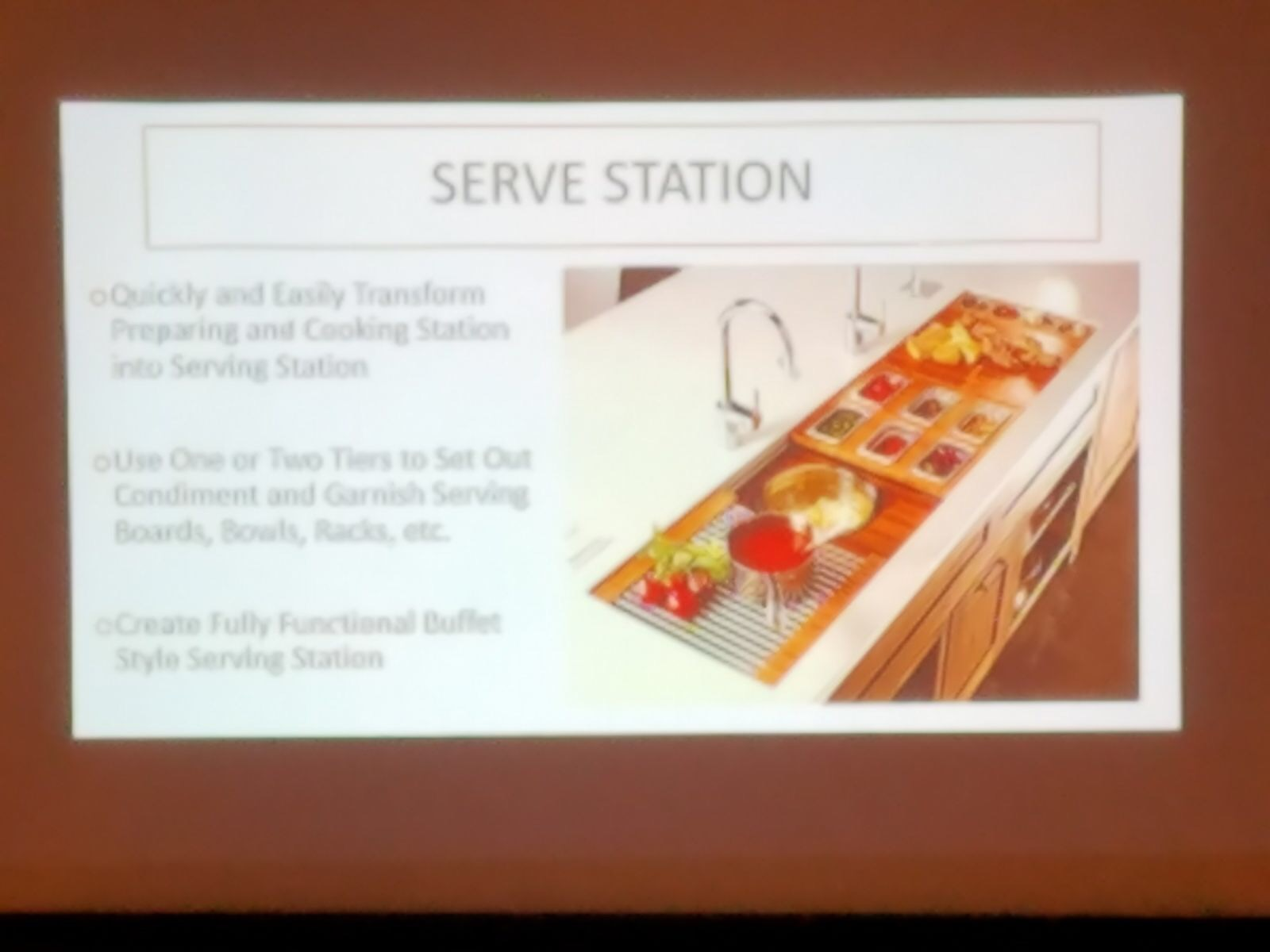 Galley Workstation presentation at the SEN Fall 2017 Conference
